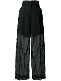 широкие брюки с полупрозрачной отделкой Toga