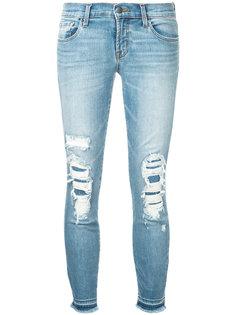укороченные джинсы скинни с низкой посадкой J Brand