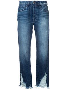джинсы с рваными деталями 3X1