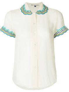 блузка с фигурной отделкой на воротнике  Jupe By Jackie
