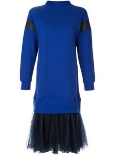 платье-джемпер с прозрачными панелями Maison Mihara Yasuhiro