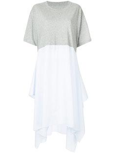 широкое платье-футболка Mm6 Maison Margiela