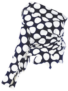 асимметричная блузка с узором в горох A.W.A.K.E. Awake