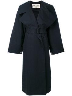 удлиненное пальто с поясом A.W.A.K.E. Awake