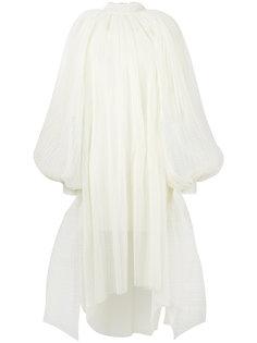 расклешенное платье-миди с вышивкой A.W.A.K.E. Awake