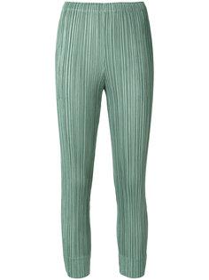 плиссированные укороечнные брюки  Pleats Please By Issey Miyake
