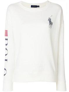 свитер с круглым вырезом и логотипом  Polo Ralph Lauren