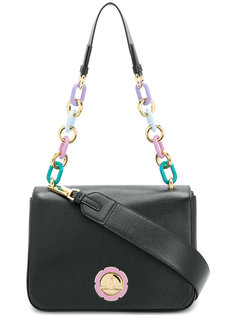 chain-embellished shoulder bag Salvatore Ferragamo