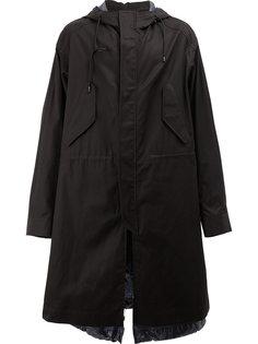 пальто в стиле милитари со сборкой Juun.J