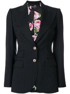 приталенный пиджак  в полоску Dolce & Gabbana