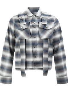 куртка рубашечного кроя с узором в клетку Delada