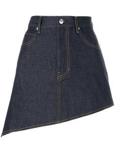 асимметричная джинсовая юбка Helmut Lang