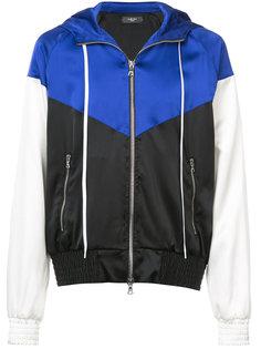 куртка с капюшоном и контрастными вставками  Amiri