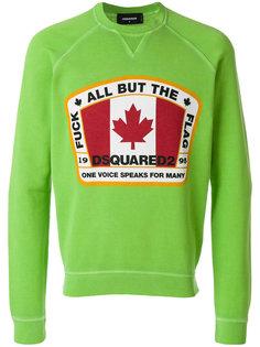 толстовка с канадским флагом Dsquared2