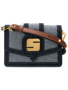 сумка на плечо с металлической деталью Serapian