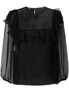 полупрозрачная блузка с оборками  Rochas
