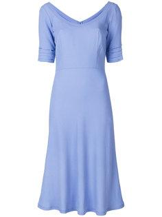 платье слим с вырезом-ковш  Ermanno Scervino