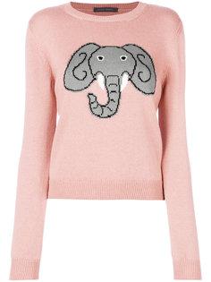 свитер с принтом слона Alberta Ferretti