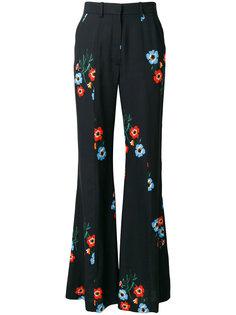 брюки клеш с цветочным принтом  Sonia Rykiel