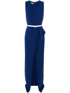 платье с поясом и оборками  Michael Kors