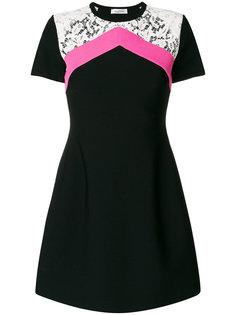 платье с кружевной вставкой  Valentino
