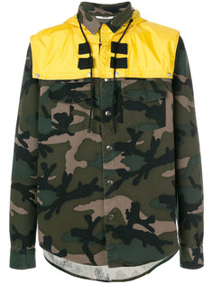 куртка с камуфляжным принтом Valentino