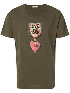 футболка с принтом Love me more Valentino