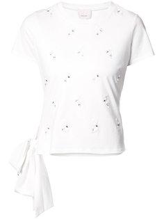 декорированная футболка Cinq A Sept