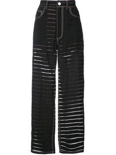 брюки с узором Fleur Du Mal