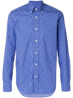 рубашка с принтом листьев Canali