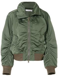 куртка-бомбер со сборками  Vince