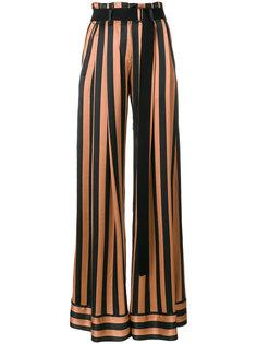 брюки-палаццо в полоску  Ann Demeulemeester