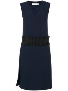 платье с плиссировкой на талии  Jil Sander
