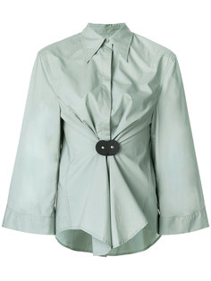 рубашка со сборкой на талии  Mm6 Maison Margiela