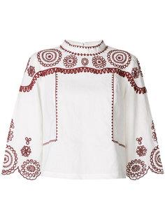 блузка с вышивкой Edison Mih Jeans