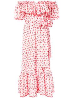 платье с цветочным рисунком и открытыми плечами Lisa Marie Fernandez
