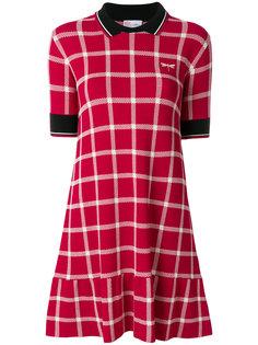 платье-поло в клетку Red Valentino