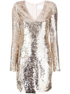платье с V-образным вырезом Misha Collection