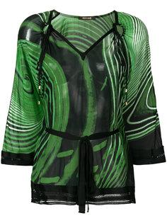 блузка-кафтан с принтом Roberto Cavalli