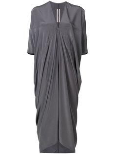 платье с драпировкой и V-образным вырезом  Rick Owens