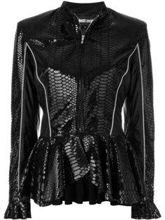 приталенная куртка с баской  Just Cavalli