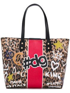 Beatrice graffiti print shopper tote bag Dolce & Gabbana