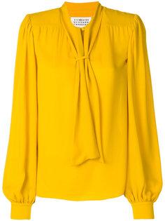 блузка с бантом и длинными рукавами Maison Margiela