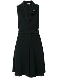 приталенное платье с V-образным вырезом Lanvin