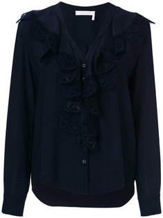 кружевная блузка с рюшами  Chloé