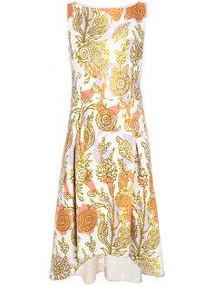 платье с золотистым принтом Peter Pilotto
