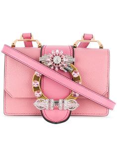 сумка на плечо с пряжкой с кристаллами  Miu Miu