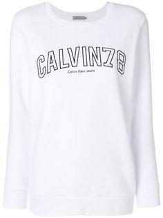 толстовка с вышитым логотипом  Calvin Klein