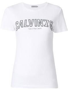 трикотажный топ с вышитым логотипом  Calvin Klein Jeans