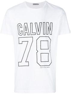 футболка с вышитым логотипом Calvin Klein